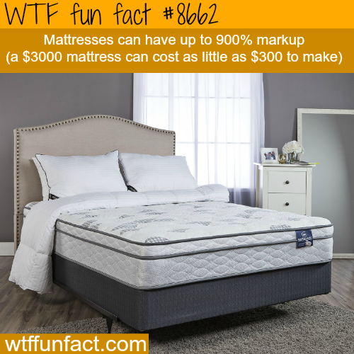 Why mattresses cost so much money - WTF fun facts
