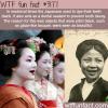 why medieval japanese people dye their teeth black