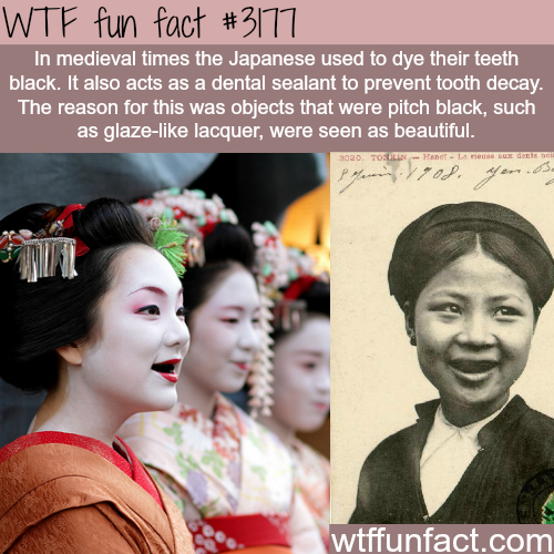 Why medieval Japanese people dye their teeth black -  WTF fun facts