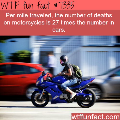 Why motorcycles can be very dangerous- WTF fun facts