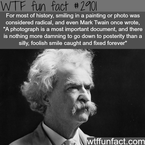 Why people in old photographs don't smile -WTF fun facts