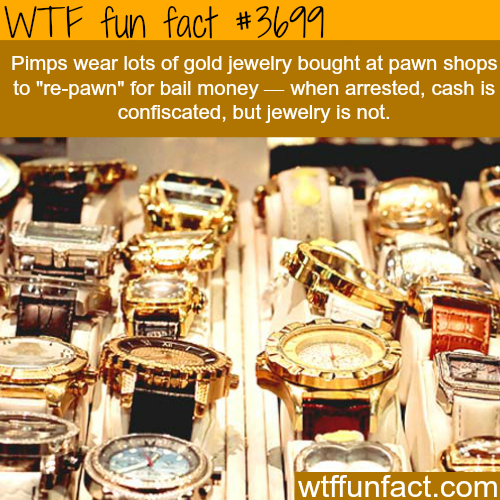 Why pimps wear lots of jewelry -  WTF fun facts
