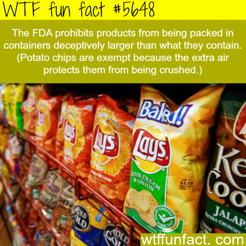 Why potato chips bags are full of air - WTF fun fact