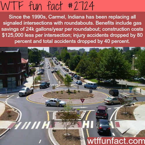 Why roundabouts are better than signaled intersections - WTF fun facts