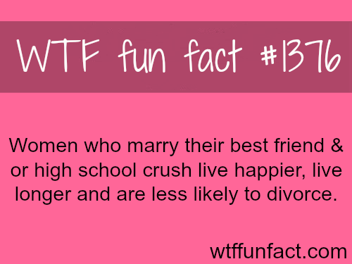 Why you should marry your best friend or high school crush