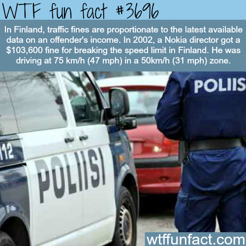 Why you should not speed in Finland -  WTF fun facts