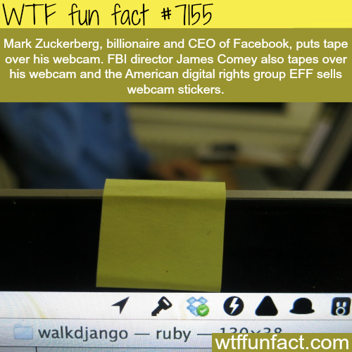 Why you should put tape on your webcam - WTF Fun Fact