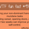 why you should use non dominant hand wtf fun