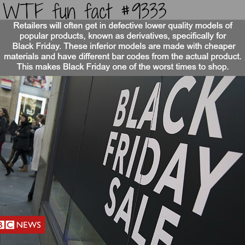 Why you shouldn't shop on Black Friday - WTF Facts