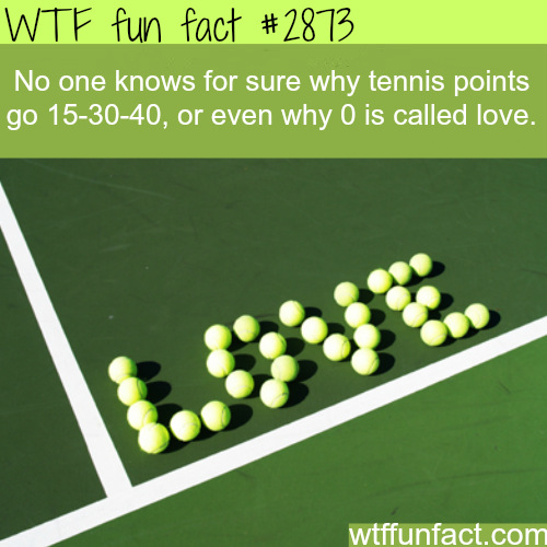 Why zero is called love in tennis? -WTF fun facts