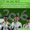 wining koreans in the olympics dont have join the
