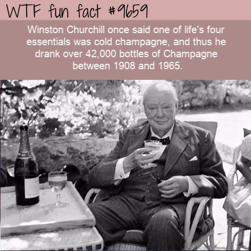 Winston Churchill once said one of life's four essentials was cold champagne