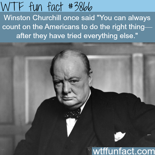 Winston Churchill quotes - WTF fun facts