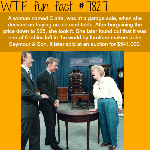 Woman bought an old table for $25