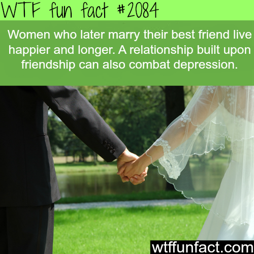 Women who marry their best friend live happier -WTF fun facts