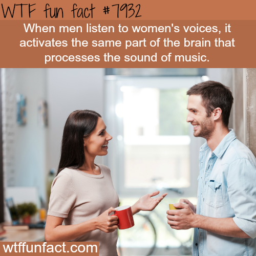 Women's voices are like music to men… - WTF fun facts
