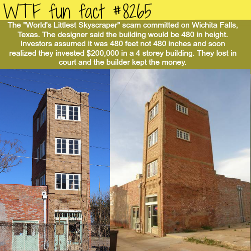 World's littlest skyscraper - WTF fun facts