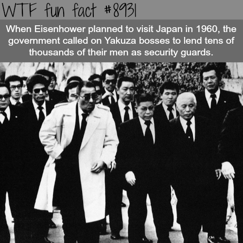 Yakuza as security guards for the American president - WTF fun facts