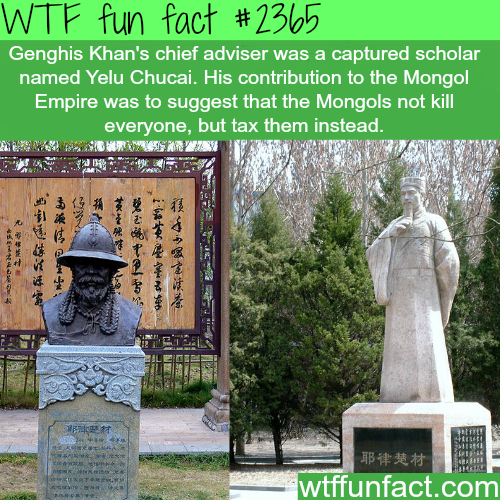 Yelü Chucai / Genghis Khan's Chief Adviser - WTF fun facts
