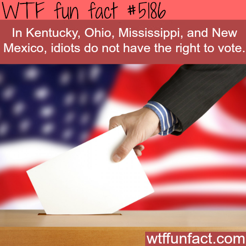 You can't vote if you are an idiot in these States - WTF fun facts