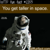 you get taller in space