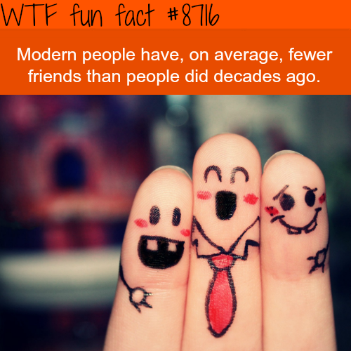 You have fewer friends than your parents did - WTF fun facts