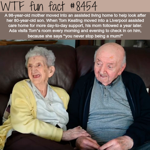 You never stop being a mum - WTF fun facts