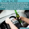 WTF Fun Fact – Drink Drive Law