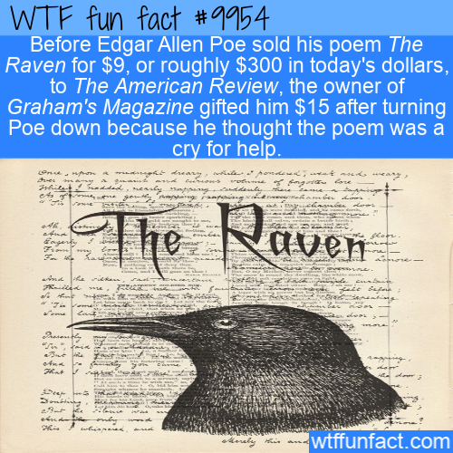 fun fact edgar allen poe cheap