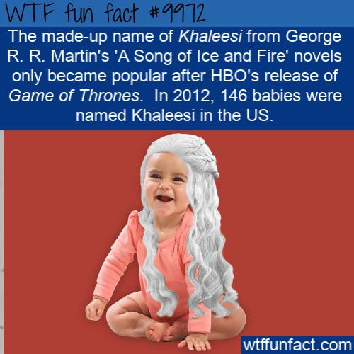 fun fact khaleesi baby name