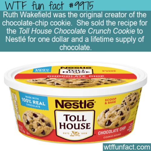 fun food fact chocolate chip cookie