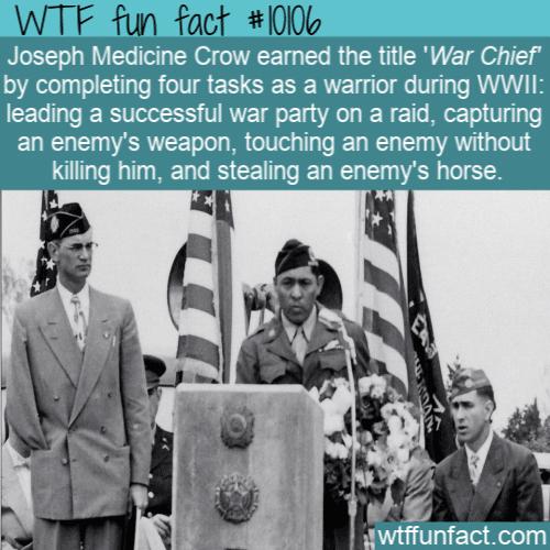 WTF Fun Fact - Joseph Medicine Crow
