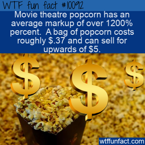 WTF Fun Fact - Movie Theatre Popcorn