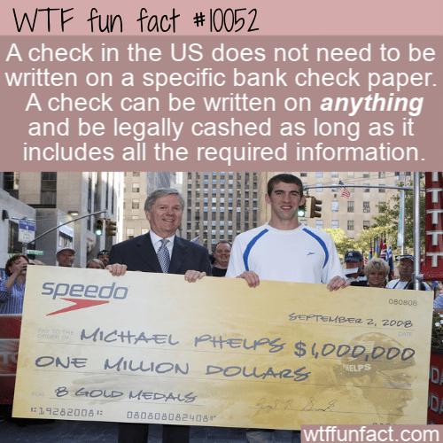WTF Fun Fact - US Checks