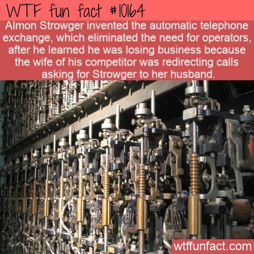 WTF Fun Fact - Automatic Telephone Exchange(