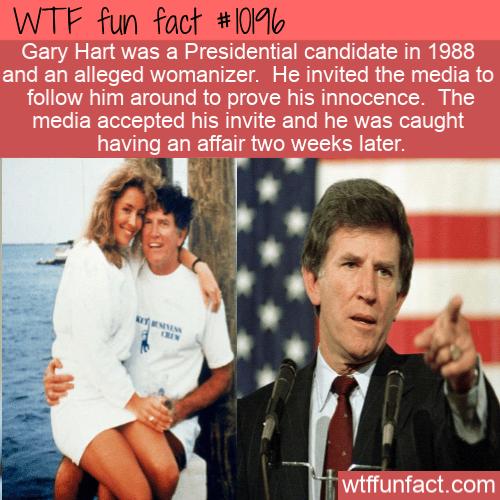 WTF Fun Fact - Gary Hart Womanizer