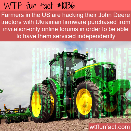 WTF Fun Fact - Hacked Tractor