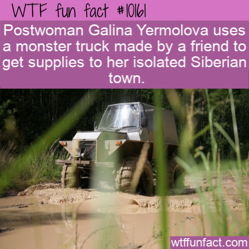 WTF Fun Fact - Postwoman Uses A Monster Truck