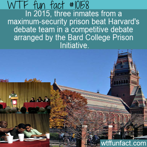 WTF Fun Fact - Prisoners Win Harvard Debate