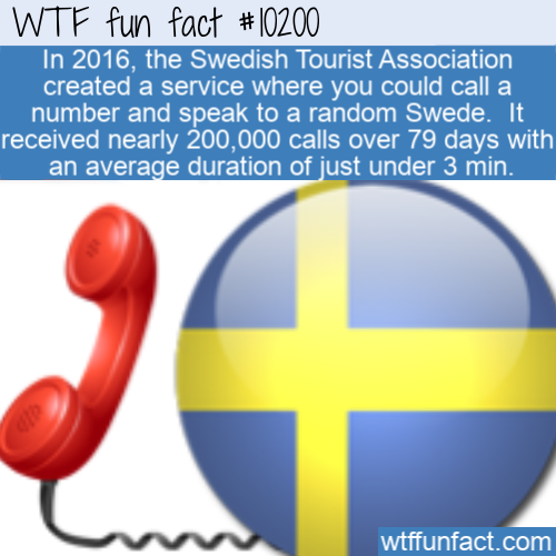 WTF Fun Fact - Talk To A Swede