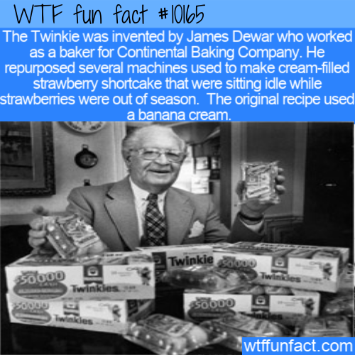 WTF Fun Fact - Twinkie INvented