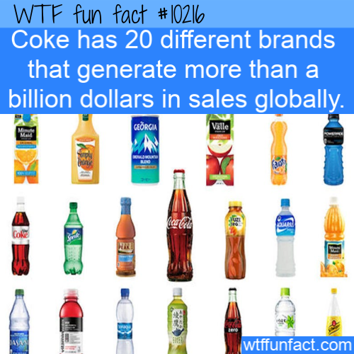 WTF Fun Fact - Coke Billion Dollar Brands