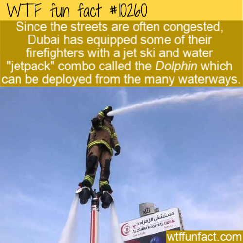 WTF Fun Fact - Dubai Firefighters Jetpacks