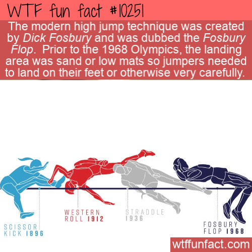 WTF Fun Fact - Fosbury FLop