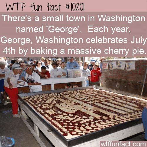 WTF Fun Fact - George, Washington Pie