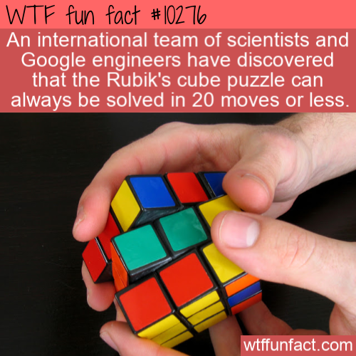 WTF Fun Fact - Rubik's Cube Solutions