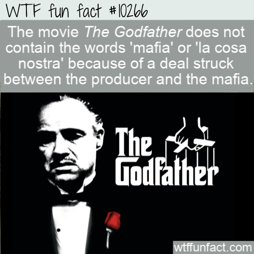 WTF Fun Fact - No Mafia In The Godfather