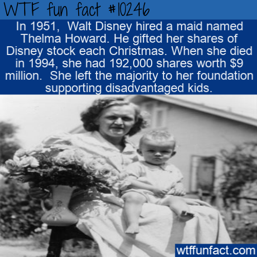 WTF Fun Fact - Walt Disney's Maid