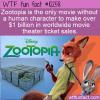 WTF Fun Fact – Zootopia Makes A Billion