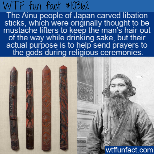 WTF Fun Fact - Ainu Libation Stick